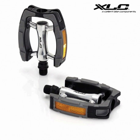 XLC city bike pedals with rubber
