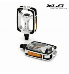 XLC city bike pedals with rubbe